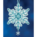 Aqua Crystal Ornament