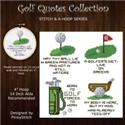 Stitch & a Hoop : Golf Quotes Mini Pattern