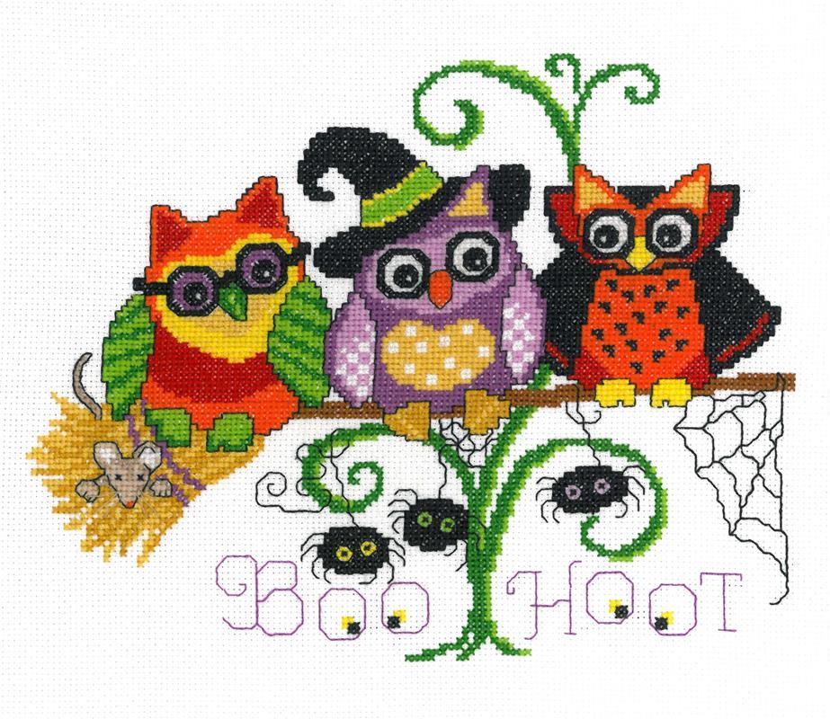 Charmed Vintage Owl Halloween Ornament Hinzeit Cross Stitch Pattern