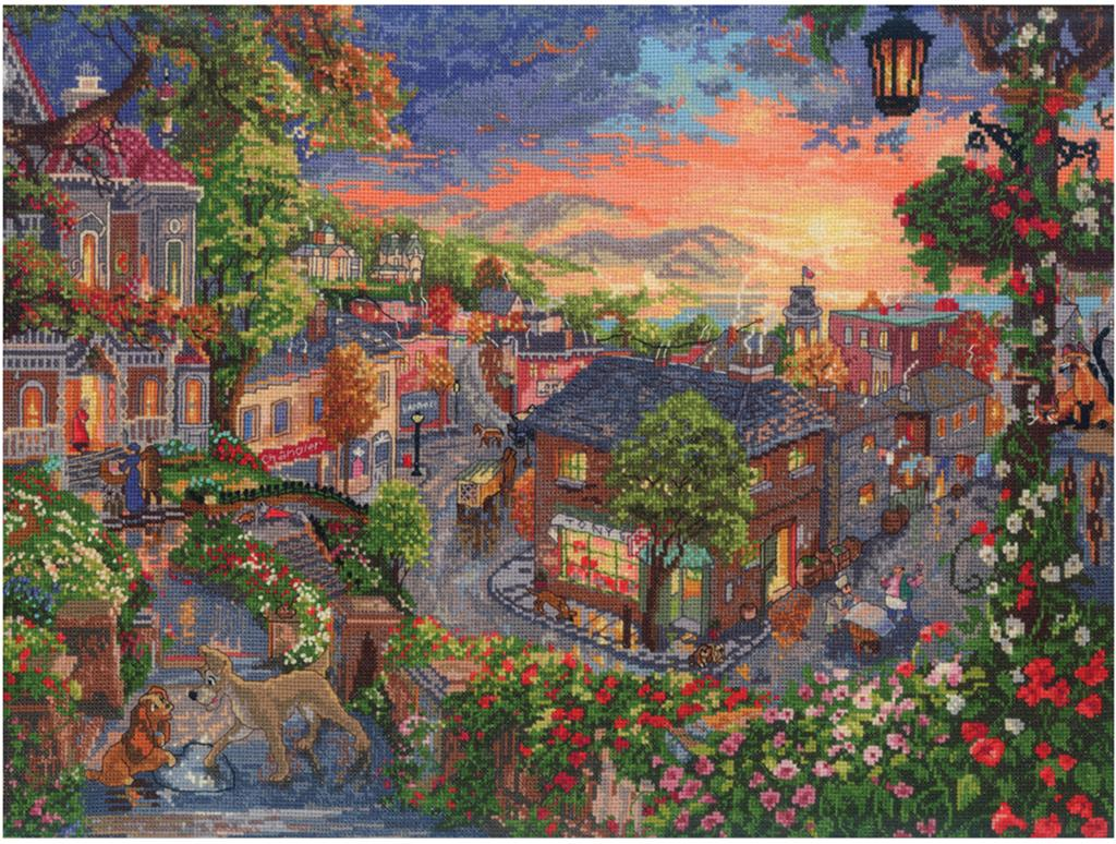 Disney Lady and the Tramp Fine Art/_Cross Stitch Pattern