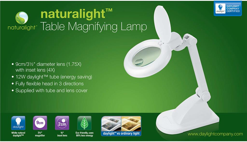 Everything cross stitch naturalight table magnifying lamp white aloadofball Image collections