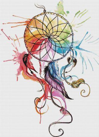 Everything Cross Stitch Color Wheel Dreamcatcher By Katy Lipscomb