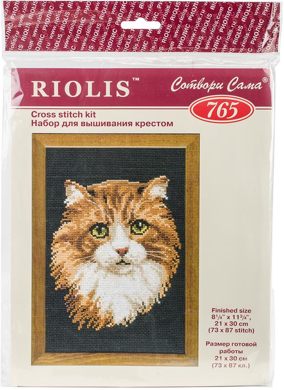 Red Cat Counted Cross Stitch Kit-8.25X12 10 Count