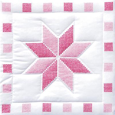 Star Quilt Blocks Stamped Cross Stitch