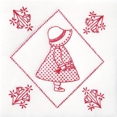 Sunbonnet Sue Quilt Blocks Stamped Cross Stitch