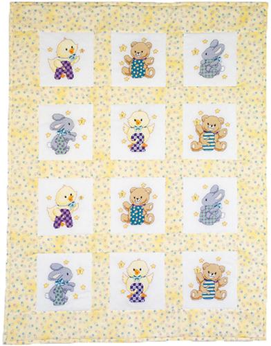 Abc 123 Quilt Blocks (stamped cross stitch)