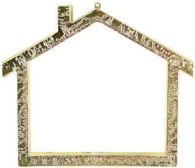 Everything Cross Stitch - Gold House Frame W/Backing 2-3/4 X3-3/8 1/Pkg