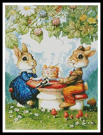 Rabbits And Birthday Cake By Artecy Cross Stitch