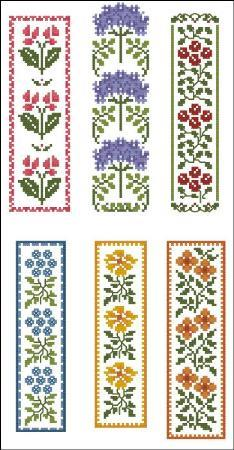 Eloquent image with free printable counted cross stitch bookmark patterns