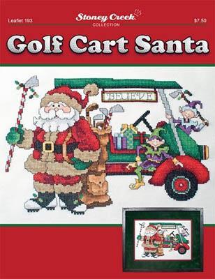 Golf Cart Santa