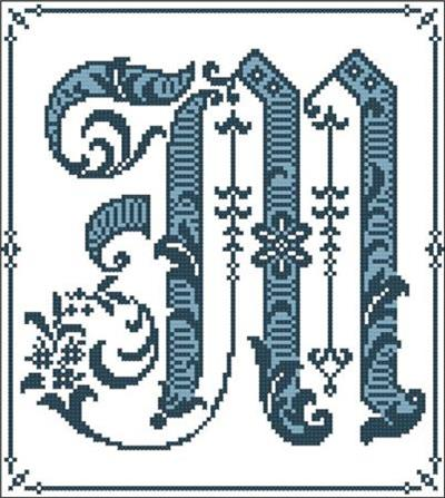 Gothic Alphabet M By PinoyStitch