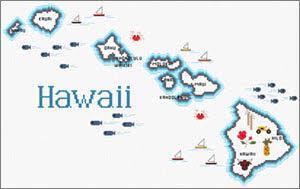 Hawaii Map By Sue Hillis Designs