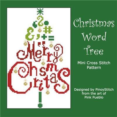 Christmas Words.Christmas Word Tree