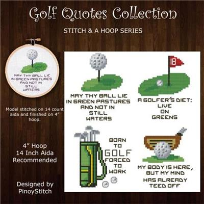 Everything Cross Stitch Stitch A Hoop Golf Quotes Mini Pattern Interesting Golf Love Quotes