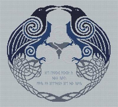 Everything Cross Stitch Odins Ravens