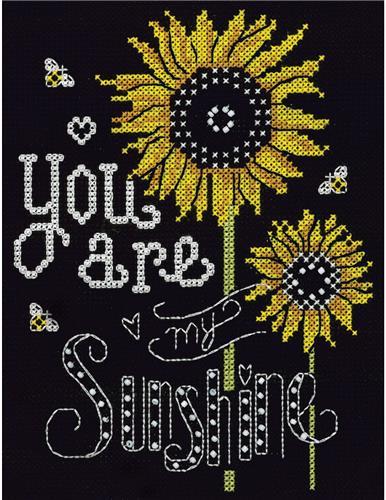 You Are My Sunshine Cross Stitch Kit,Sapphire Design Studio