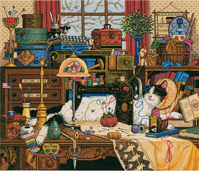 Dimensions Gold Collection Maggie The Messmaker Counted Cross Stitch Ki
