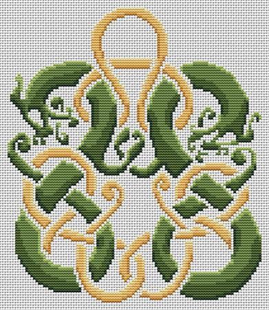 Dragon Waiting Cross Stitch Pattern