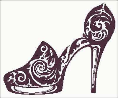 a4251044c0340 Everything Cross Stitch - Sexy Shoes Silhouette
