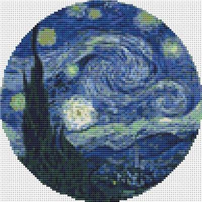Everything Cross Stitch The Starry Night Circle Chart