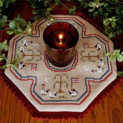 Everything Cross Stitch - Little Candle Mats- American Sheep
