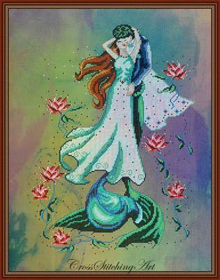Cross Stitch Pattern Watercolor Blooms