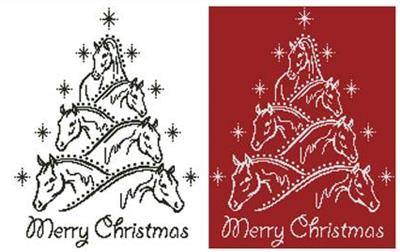 a beautiful horse christmas tree was designed from an image copyright of anelluk fotolia only full cross stitches are used in this pattern - Cross Christmas Tree