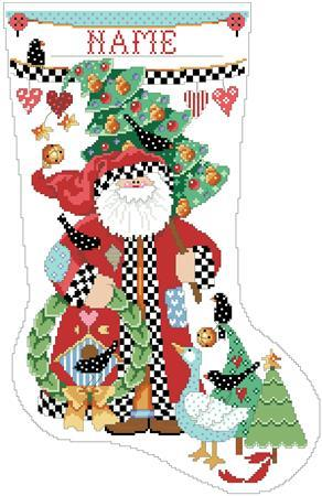 Folk Art Collection Stocking