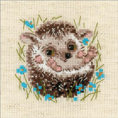 Everything Cross Stitch Hedgehog Counted Cross Stitch