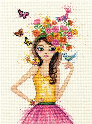 Everything Cross Stitch - Spring Time Counted Cross Stitch