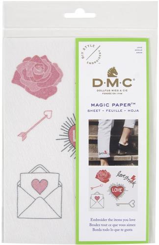Everything Cross Stitch - Love - DMC Magic Paper Pre-Printed