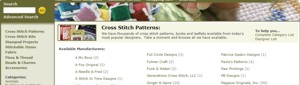 Cross Stitch pattern Manufacturers List